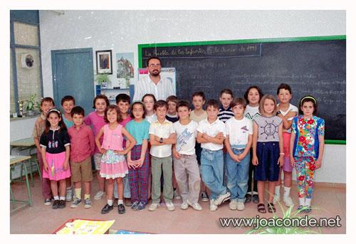 Con mi clase de 3º, en 1993