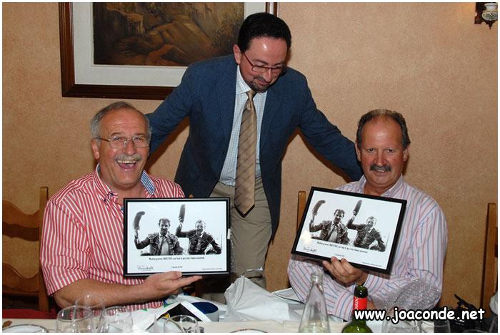 Con Pablo y Vicente en su jubilación (2011)