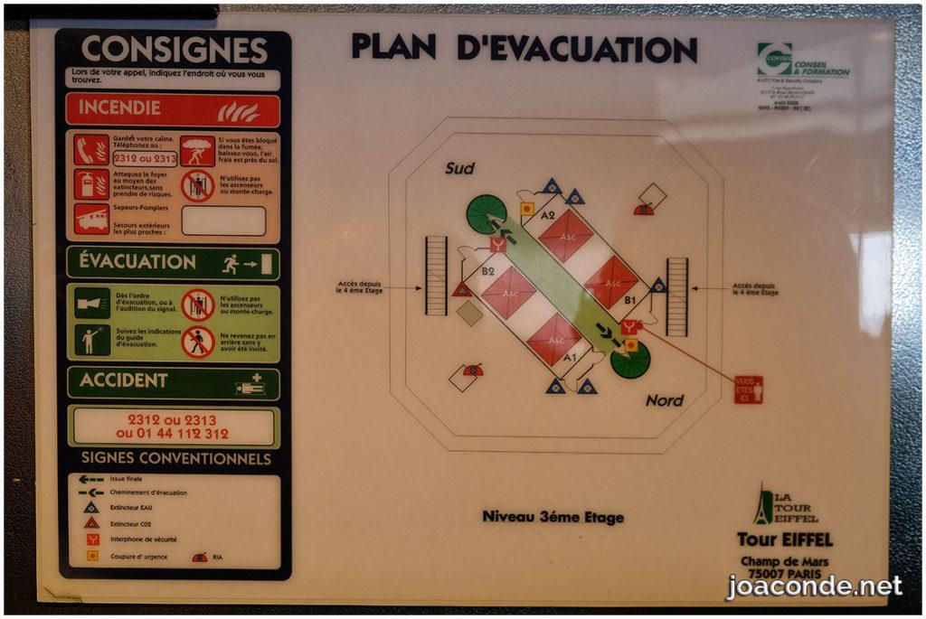evacuation eiffel