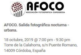 convocatoria paseo fotografico con AFOCO